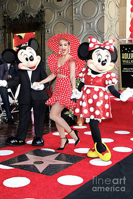Photograph - Minnie Mouse Is Honored With A Star by Nina Prommer