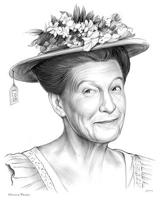 Drawing - Minnie Pearl by Greg Joens