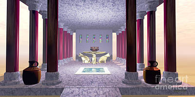Archeology Painting - Minoan Temple by Corey Ford