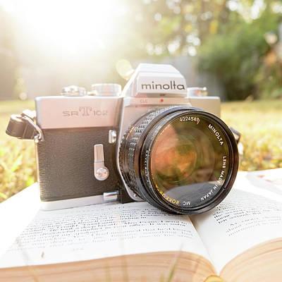 Vintage Books Photograph - Minolta Sr-t-102 by Jon Woodhams