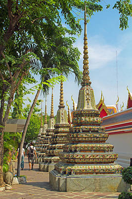 Photograph - Minor Chedi At Wat Pho by David Freuthal