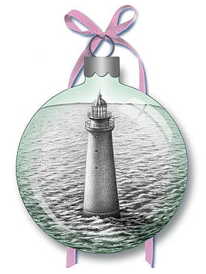 Digital Art - Minot Light Ornament by Donna Basile