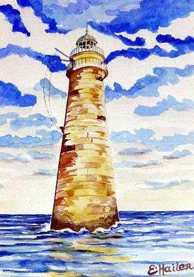 Minot Lighthouse Art Print by Elaine Cummins