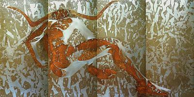Minotaur Mixed Media - Minotaur I by Margaret Hastings