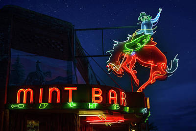 Truck Art - Mint Bar Neon Sheridan Wyoming by Steve Gadomski