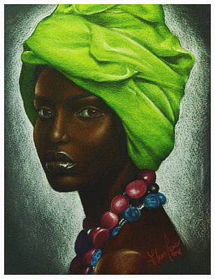African-american Drawing - Mint Chocolate by Charlene Cooper