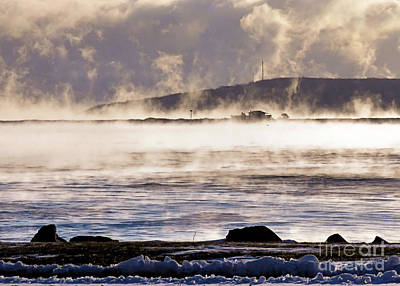 Photograph - Minus Eight Degrees Sea Smoke by Janice Drew