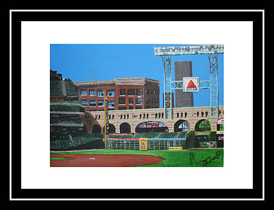 Houston Astros Painting - Minute Maid Park by Leo Artist