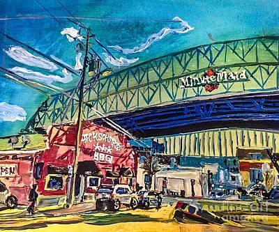 Houston Astros Painting - Minute Maid Park by Paula Baker