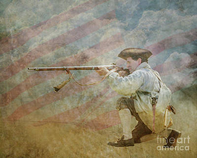 Digital Art - Minuteman Call To Arms by Randy Steele