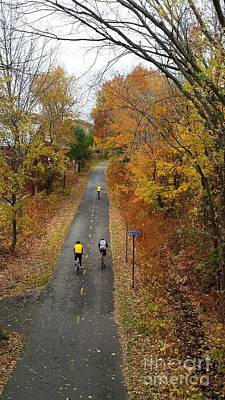 Photograph - Minuteman Cyclists In The Fall by Leara Nicole Morris-Clark
