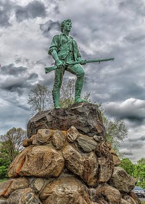 Priska Wettstein Pink Hues - Minuteman Statue Lexington Massachusetts by Brian MacLean
