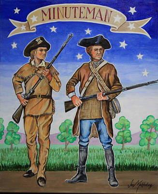 Minuteman Painting - Minutemen by Jan Mecklenburg