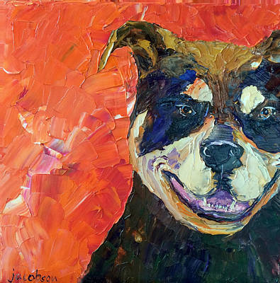 Painting - Minxie by Carrie Jacobson