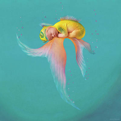 Under The Ocean Photograph - Mira As A Tropical Fish by Anne Geddes