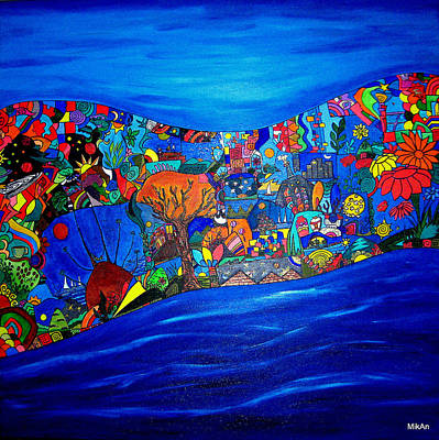 Mira Como Nadan Art Print by MikAn 'sArt