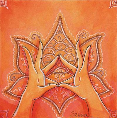 Mira Mudra Art Print by Sabina Espinet