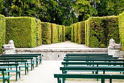 Photograph - Mirabell Gardens Maze by Robert Meyers-Lussier