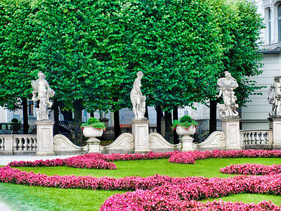 Photograph - Mirabell Gardens Study 6 by Robert Meyers-Lussier
