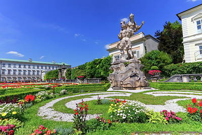 Photograph - Mirabell Palace And Gardens, Salzburg, Austria by Elenarts - Elena Duvernay photo