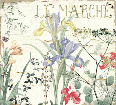 Le Jardin Wall Art - Painting - Mirabelle Iv by Mindy Sommers