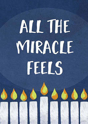 Humor Mixed Media - Miracle Feels- Hanukkah Art By Linda Woods by Linda Woods