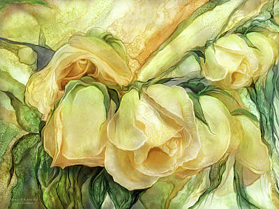 Mixed Media - Miracle Of A Rose Bud - Yellow by Carol Cavalaris