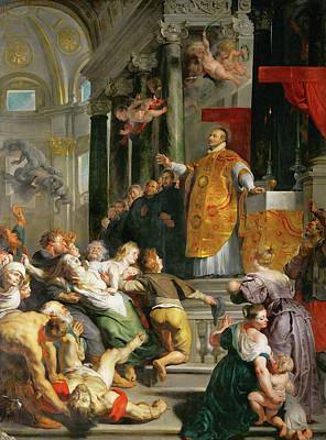 Loyola Painting - Miracle Of Saint Ignatius by Peter Paul Rubens
