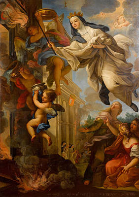 Painting - Miracle Of The Blessed Mafalda by Giuseppe Bartolomeo Chiari