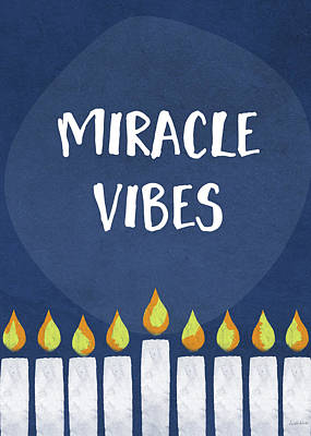 Humor Mixed Media - Miracle Vibes- Hanukkah Art By Linda Woods by Linda Woods