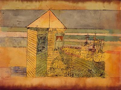 Drawing - Miraculous Landing by Paul Klee