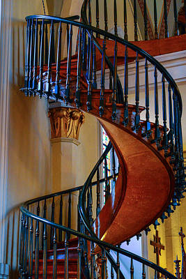 Photograph - Miraculous Staircase by Robert Brusca