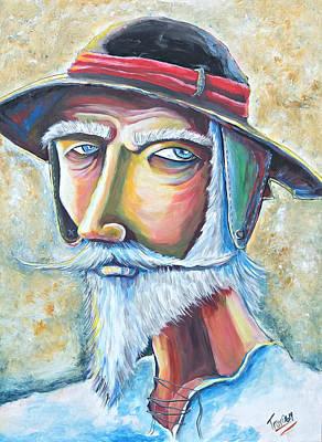 Don Quijote Painting - Mirada De Quijote by Juan Hernandez