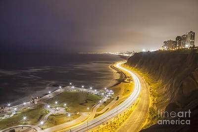 Photograph - Miraflores In Lima At Traffic Time by Olivier Steiner