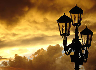 Lamps Photograph - Mirage Night Sky by Michael Simeone