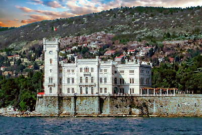 Photograph - Miramare Castle By The Sea by Anthony Dezenzio