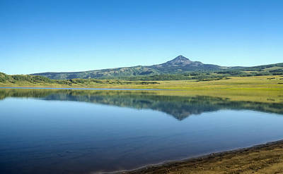 Photograph - Miramonte Reservoir With Lone Cone Mountain Reflected by John Brink