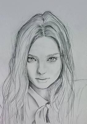 Miranda Kerr Art Print by Mohammad Hariz