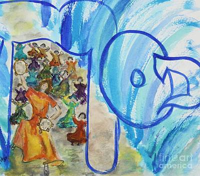 Painting - Miriam And Passover by Hebrewletters Sl
