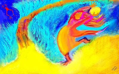 Digital Art - Miriam, Song Of The Sea by Chana Helen Rosenberg