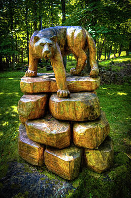 Art Print featuring the photograph Mirnie's Cougar Sculpture by David Patterson