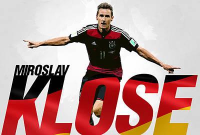 Bayern Digital Art - Miroslav Klose by Semih Yurdabak