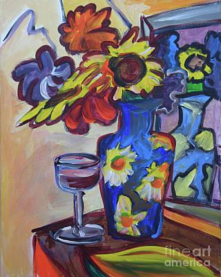 Mirror And Vase Art Print