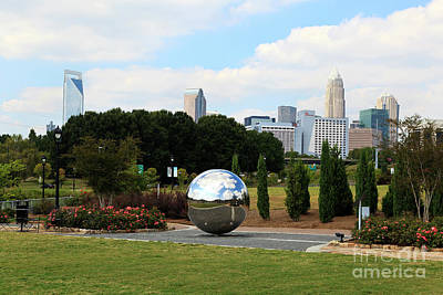Photograph - Mirror Ball At Midtown Park In Charlotte by Jill Lang