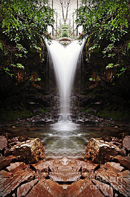 Mixed Media - Mirror Falls by Eric Liller