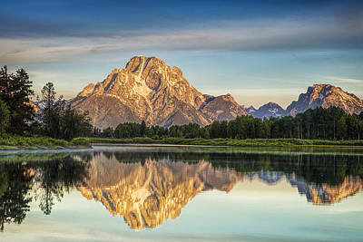 Mountain Royalty-Free and Rights-Managed Images - Mirror Image at Oxbow Bend by Andrew Soundarajan