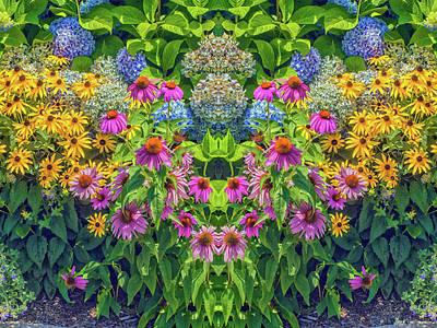 Flowers Pareidolia Art Print