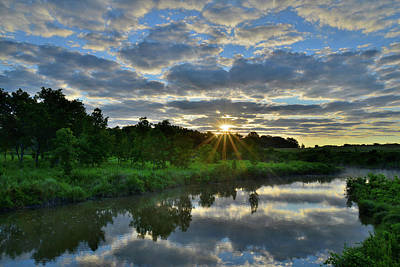 Photograph - Mirror Image Of Beautiful Sunrise In Glacial Park by Ray Mathis