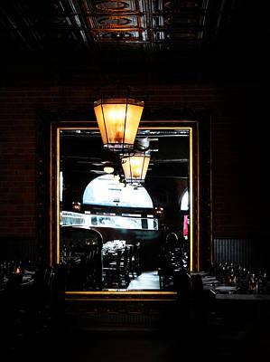 Mirror In Restaurant Art Print by Cynthia Guinn