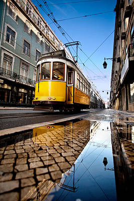 Tram Photograph - Mirror by Jorge Maia